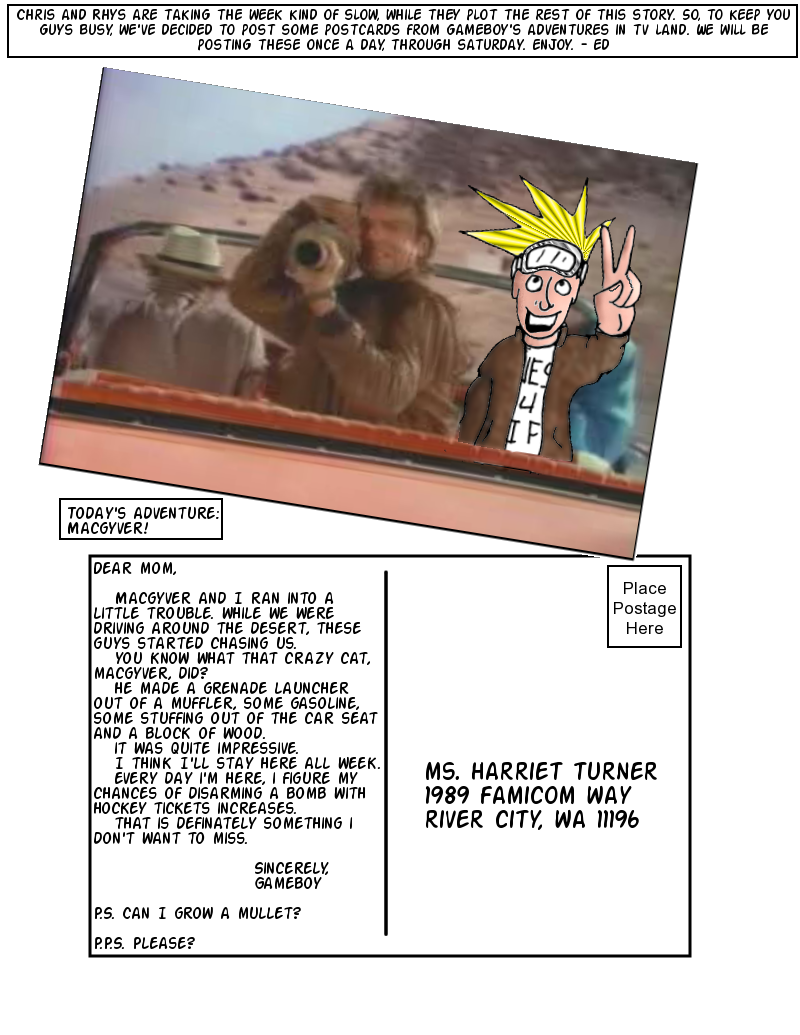 Postcards from TV Land:  MacGuyver