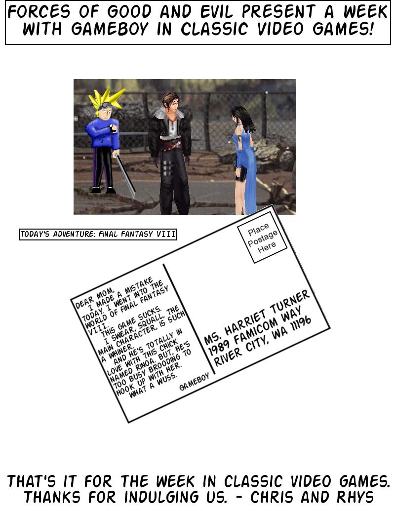 Postcards From Gameland: Final Fantasy VIII